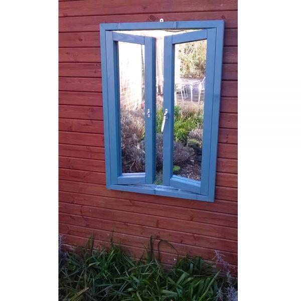 French Window Ajar Garden Mirror Illusion