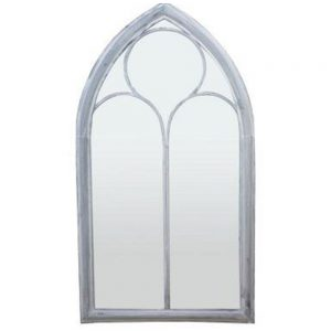 Gothic Arched Metal Framed Garden Mirror