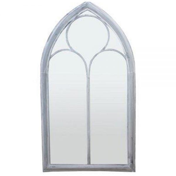 Gothic Arched Metal Framed Garden Mirror
