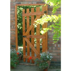 Garden Gate Ajar Illusion Garden Mirror