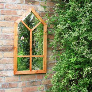Gothic Window Garden Mirror Illusion