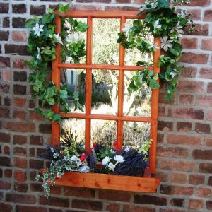 Georgian Window Garden Mirror Illusion