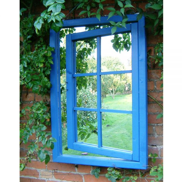 Open Georgian Window Illusion Garden Mirror