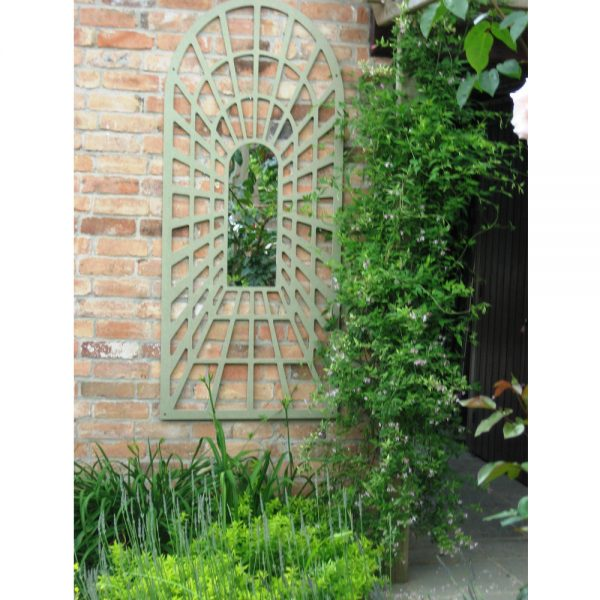 Large Perspective Arch Garden Mirror