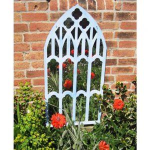 New Gothic Trellis Garden Mirror