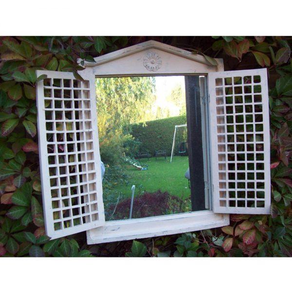 Roman Garden Mirror with Opening Shutters