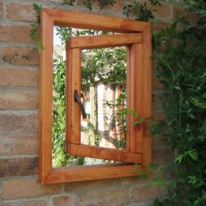 Open Window Illusion Garden Mirror - Small