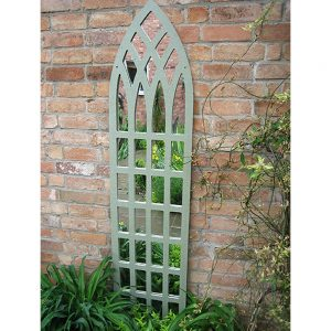 Tall Gothic Trellis Garden Mirror