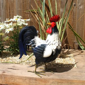 Metal Farmyard Cockerel Garden Ornament