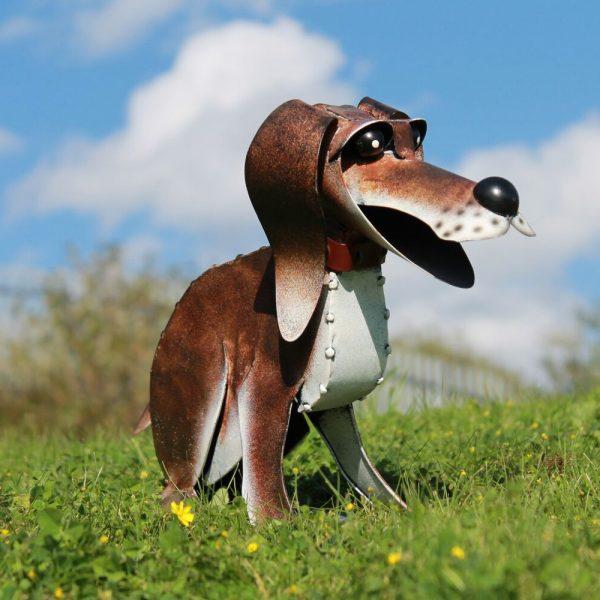 Reggie the Metal Dog Garden Ornament