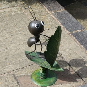 Surfin' Ant Metal Garden Ornament