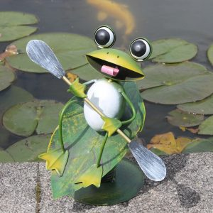 Surfin' Frog Metal Garden Ornament