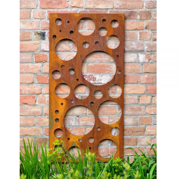 Rusty Bubble Decorative Garden Wall Panel