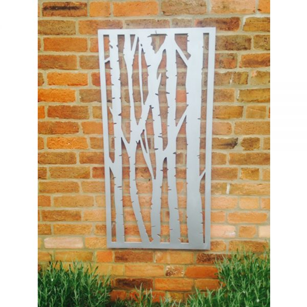 Recycled Silver Birch Decorative Garden Wall Panel