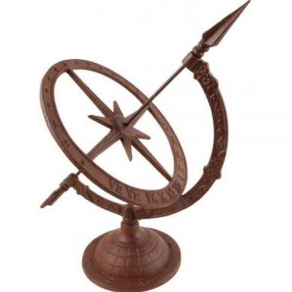 Small Cast Iron Sundial Garden Ornament