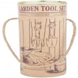 Gardening Hand Tools and Gloves Gift Set in Decorative Carry Tube
