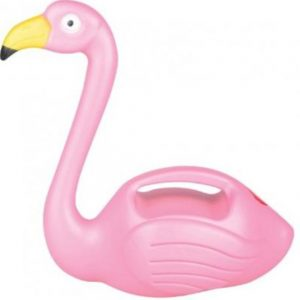Plastic Pink Flamingo Watering Can