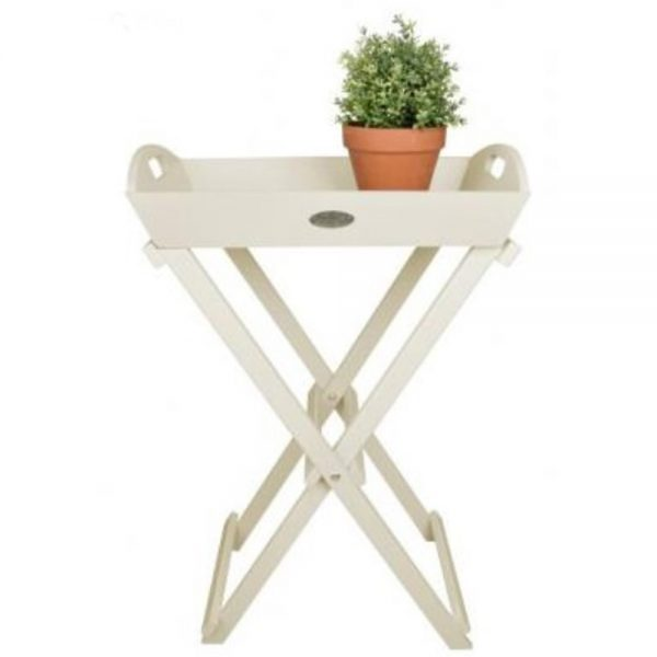 Butler's Tray and Table in Cream