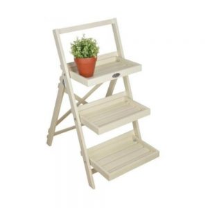 Stepped Plant Stand in Cream