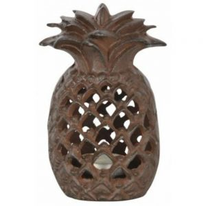 Cast Iron Pineapple Tealight Garden Lantern