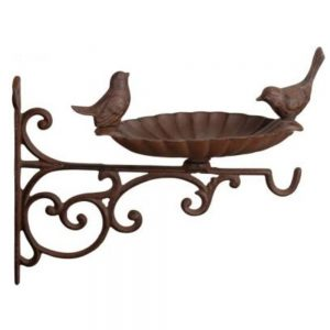Bird Bath/Feeder on Wall Bracket