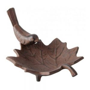 Small Cast Iron Leaf Bird Bath