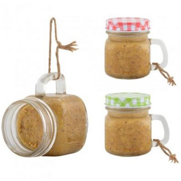 Peanut Butter Garden Mug Bird Feeders