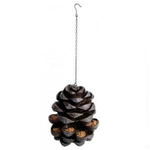 Pinecone Cast Iron Bird Feeder with Hanging Chain