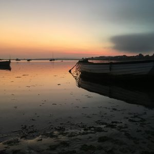 Outdoor Printed Art - Mudeford Quay Dorset at Sunset